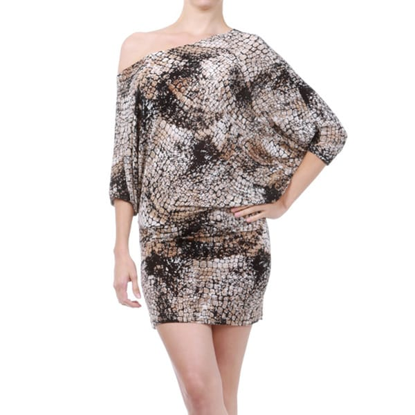 Women's Animal-print Off-the-shoulder Dress
