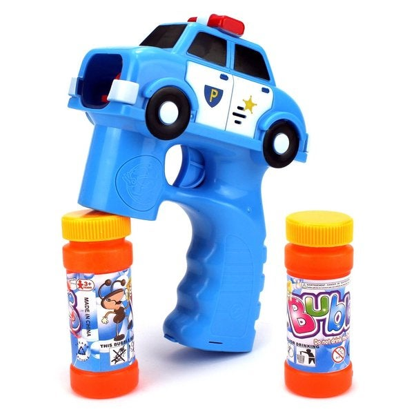 Velocity Toys Police Car Battery-operated Bubble-blowing Gun