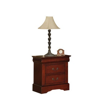 Louis Philippe III Cherry 2-drawer Nightstand