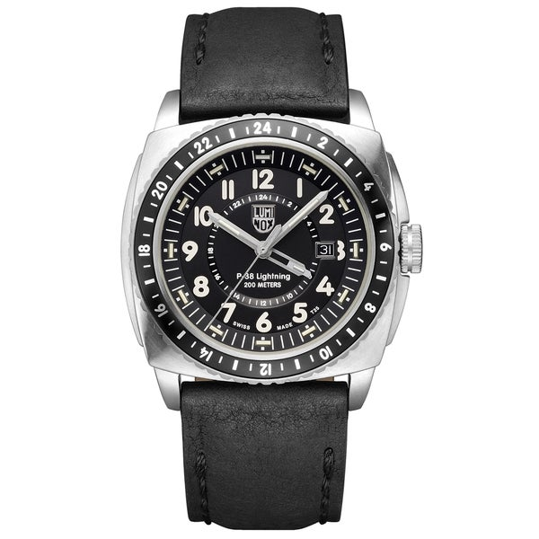 Luminox Men's 9421 P-38 Lightning 9420 Series Analog Display Analog Quartz Black Watch