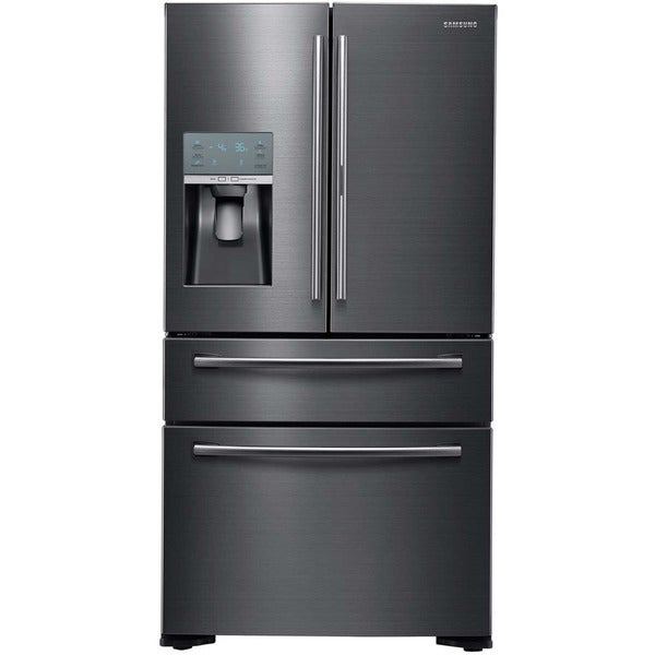 Samsung Black/Silver Stainless Steel 36-inch French Door Refrigerator