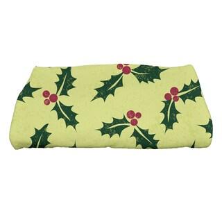 28 x 58-inch, Allover Holly, Floral Print Bath Towel