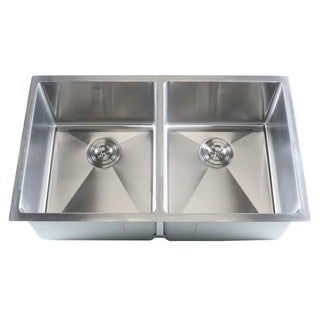 Stainless Steel 32-inch Double Bowl 50/50 Undermount Combo Kitchen Sink