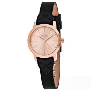 Nixon Women's A398-2159 Kenzi Round Rose Gold dial Leather strap Watch
