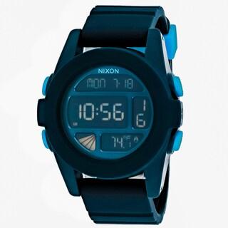 Nixon Men's A197-2224 Digital Round Black dial Silicone strap Watch