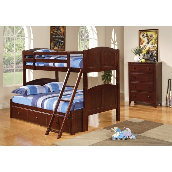 Brown Pine Under-bed Storage