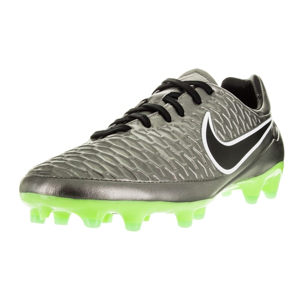 Nike Men's Magista Orden Fg Metallic Pewter/Black/Green/G Glw Soccer Cleat