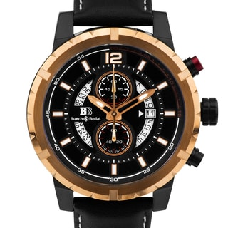 Buech & Boilat Beaumont Trophy Men's classically styled chronograph watch, 48mm case, multi-level dial, Superluminova