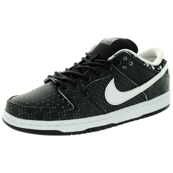 Nike Men's Dunk Low Prem Bhm Sb Qs Black/White/Black Skate Shoe