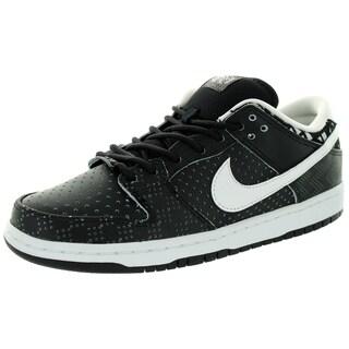 Nike Men's Dunk Low Prem Bhm Sb Qs Black/White/Black Skate Shoe