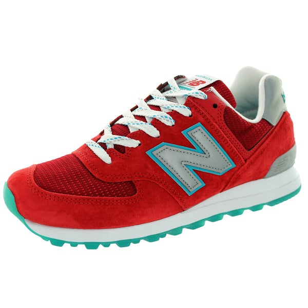 New Balance Men's Connoisseur East Coast Summer 574 Red With Silver & Blue Ashes Running Shoe