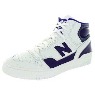 New Balance Men's Worthy 740 White With Purple Basketball Shoe