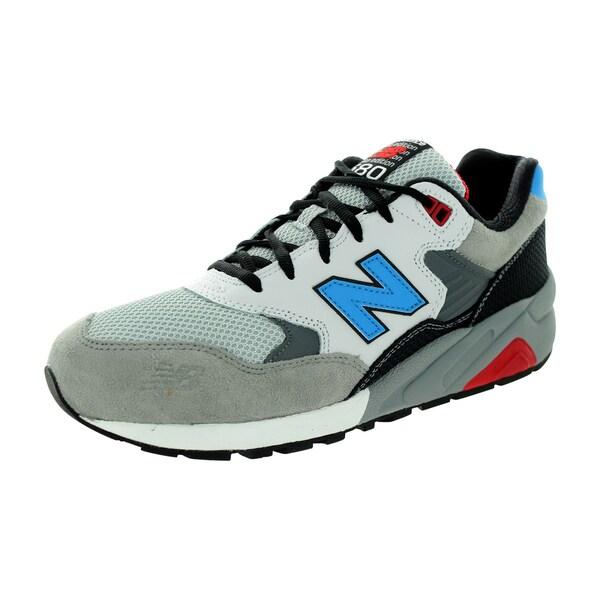 New Balance Men's 580 Lifestyle Light Grey/Black/Brightt Blue Running Shoe