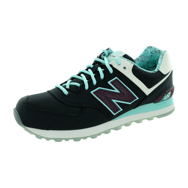 New Balance Men's 574 Classics Black/Blue Light/White Running Shoe