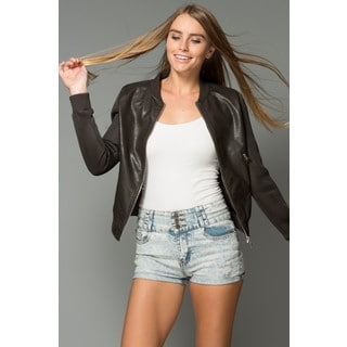Women's Get in the Game Faux Leather Jacket