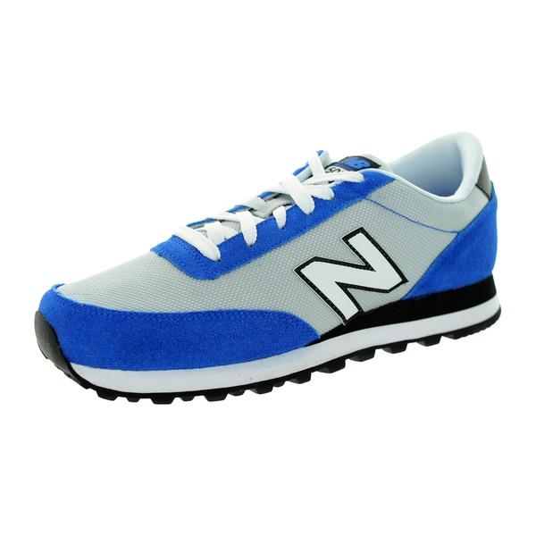 New Balance Men's 501 Classics Silver With Blue Running Shoe