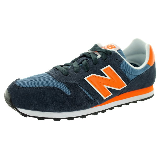 New Balance Men's 373 Classics Navy With Orange Running Shoe