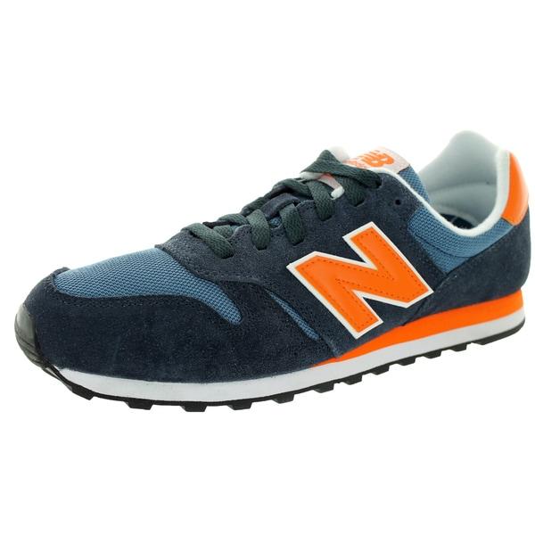 New Balance Men's 373 Classics Navy With Orange Running Shoe