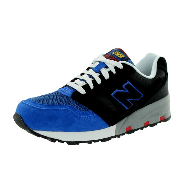 New Balance Men's Elite 575 Black/Blue Running Shoe