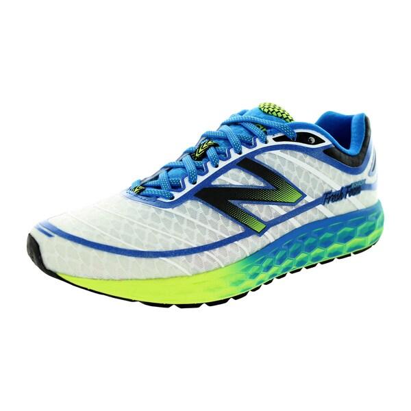 New Balance Men's 980 White/Blue/Yellow Running Shoe