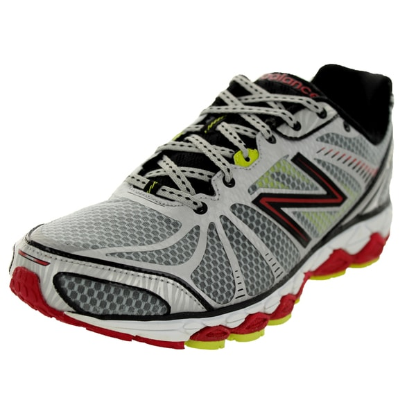 New Balance Men's 880V3 Silver/Red/Yellow Running Shoe