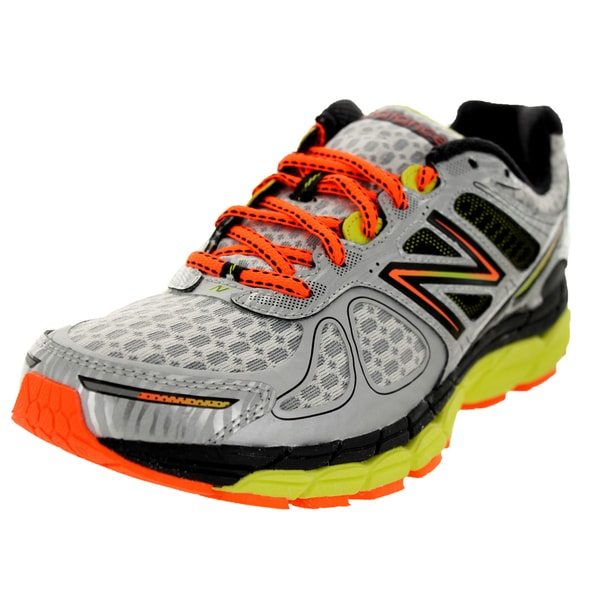 New Balance Men's 860V4 Silver/Orange/Yellow Running Shoe