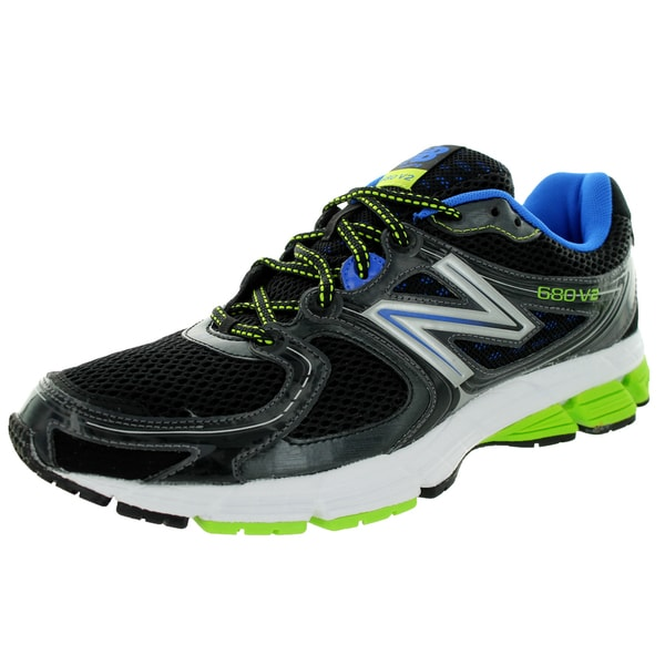 New Balance Men's 680V2 Black With Blue & Green Running Shoe