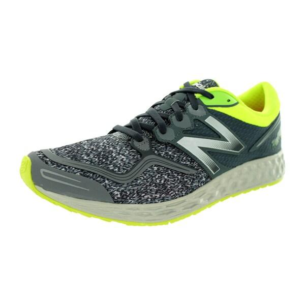 New Balance Men's Fresh Foam Zante Grey With Lime Yellow Running Shoe