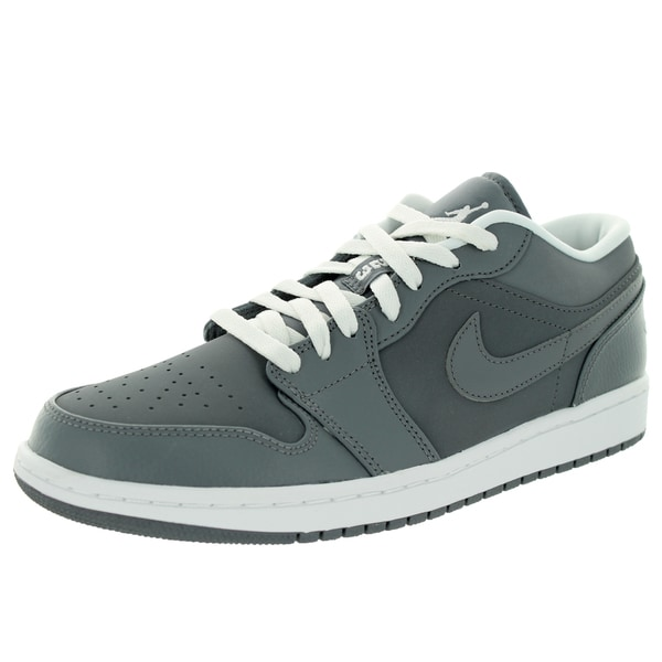 Nike Jordan Men's Air Jordan 1 Low Cool Grey/White/Cool Grey Basketball Shoe