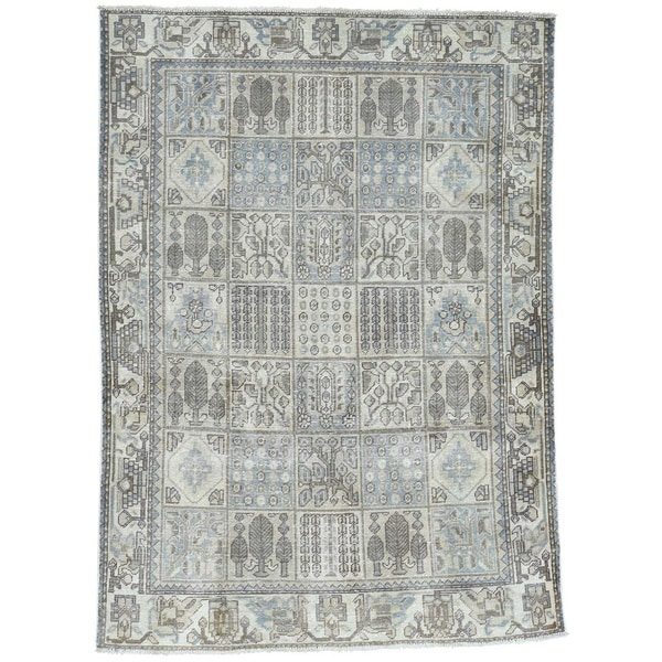 Hand-Knotted Overdyed Persian Bakhtiar Soft Colors Rug (4'9x6'7)