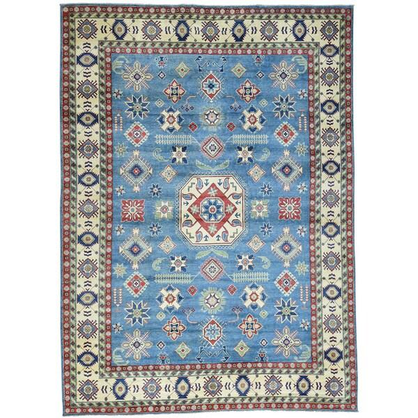 Hand-Knotted Tribal Design Kazak Wool Oriental Rug (10'2x14')