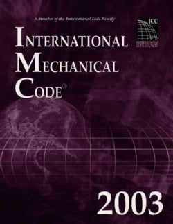 International Mechanical Code 2003 (Paperback)