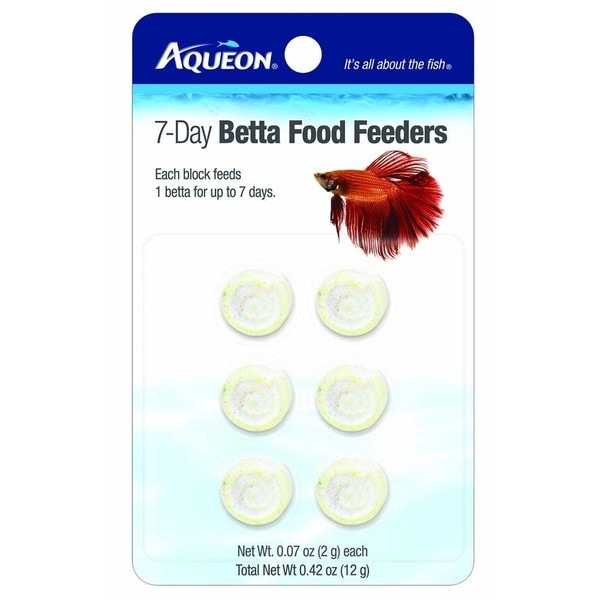 Aqueon 7-day Betta Food Feeders (Pack of 6)