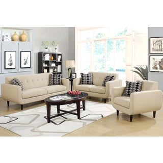 Mid-century Modern Design Ivory Living Room Collection