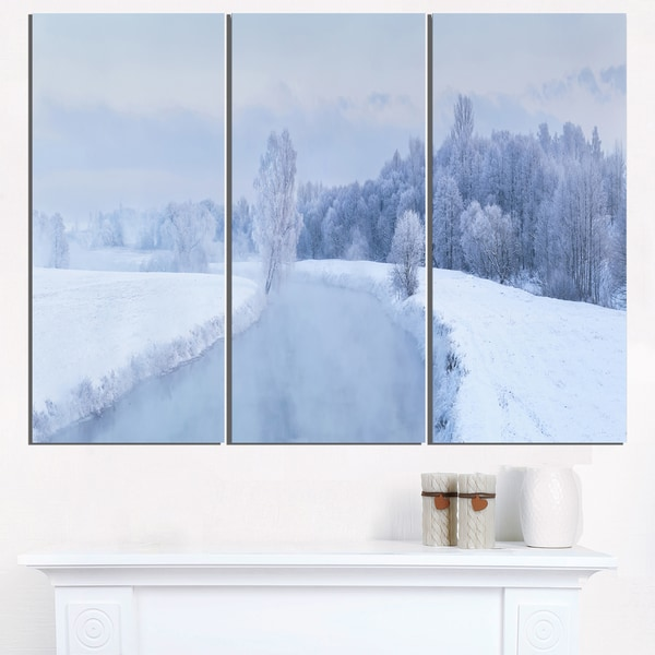 Blue Frosty Winter Weather Panorama - Landscape Print Wall Artwork