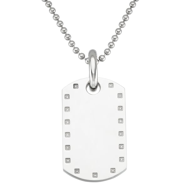 Black and Blue Jewelry Stainless Steel Dog Tag Necklace