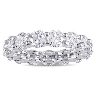 Miadora Signature Collection 18k White Gold 4 3/5ct TDW Certified Diamond Eternity Ring (D-E, VVS1-VVS2) (GIA)