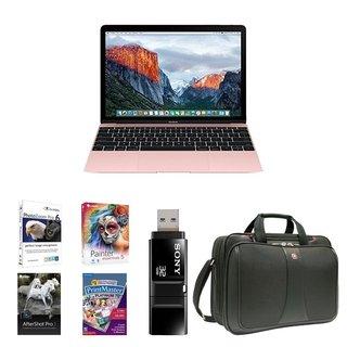 Apple MacBook MMGM2LL/A 12-Inch Laptop with Retina Display 512GB Bundle - Rose Gold