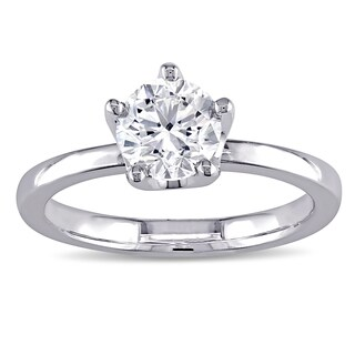 Miadora Signature Collection 14k White Gold 1ct TDW Center Solitaire Engagement Ring (G-H, I1-I2)