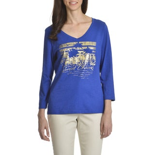 Caribbean Joe Women's Sunset Chaser Graphic Tee Shirt