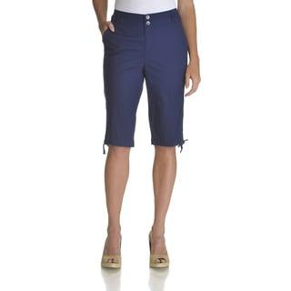 Caribbean Joe Women's Blue Cotton/Spandex Shorts