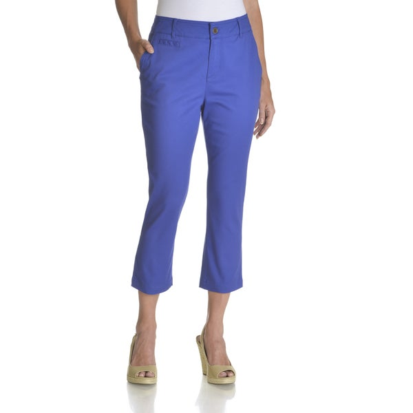 Caribbean Joe Women's Bright Twill Capri