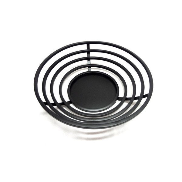Elegance Round Black Color Centrepiece Platter Stainless Steel Tray