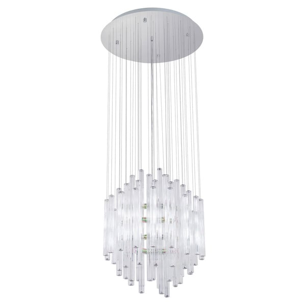 Eglo Alexandria Chrome Finish & Clear Glass Chandelier