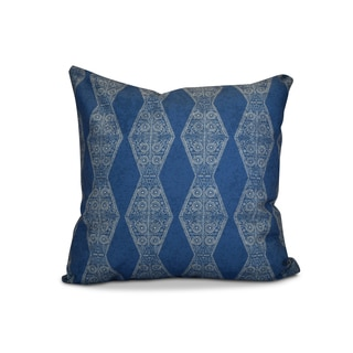 26 x 26-inch Pyramid Stripe Geometric Print Pillow