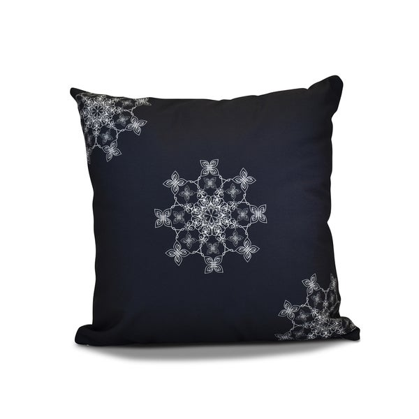 26 x 26-inch Falling Snow Geometric Holiday Print Pillow