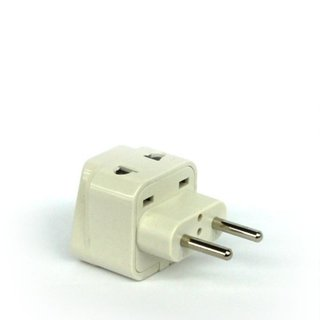 Tmvel Universal 2-in-1 High-quality CE-certified RoHS-compliant Plug Adapter - Type C for Europe, Turkey and More