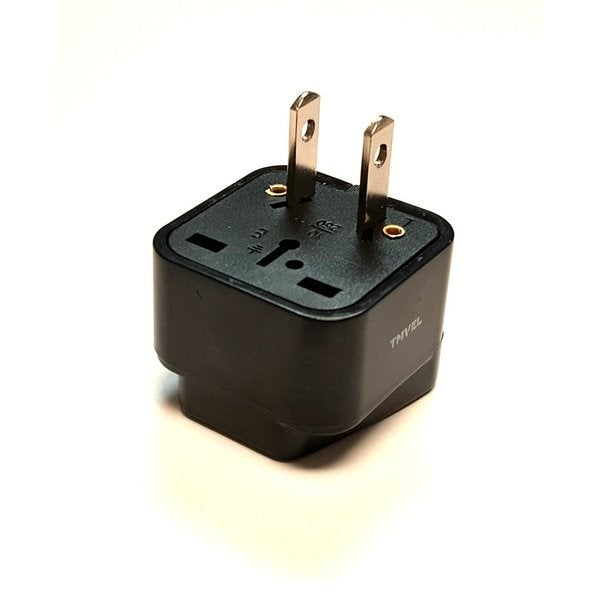 Tmvel Universal International Power Adapter Plug Tip Converter - Convert Europe To USA - Great for Cellphone Charger