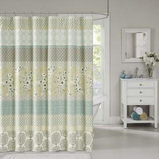 Madison Park Felicity Cotton Shower Curtain 2-Color Option