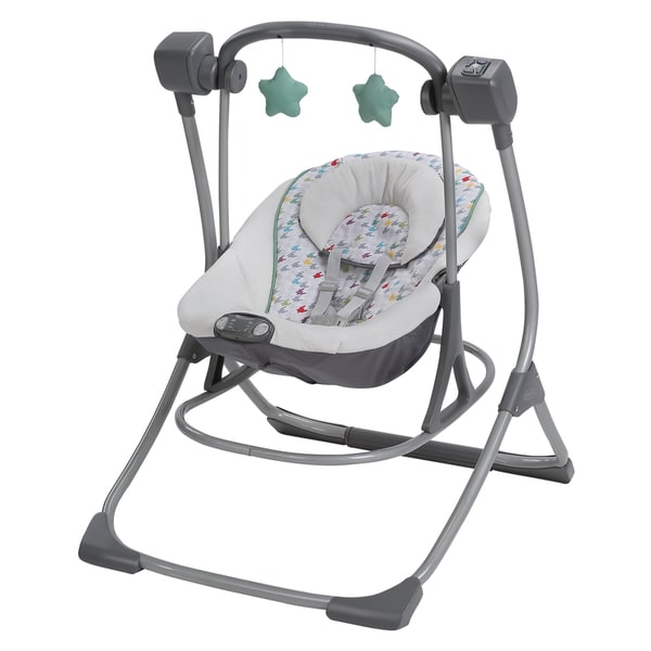 Graco Lambert Multicolored Plastic Duet Swing Plus Rocker